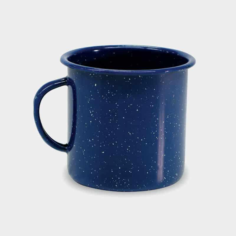 Promotional Enamel Cups Blue Blank