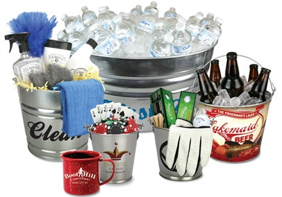 Metal Promotional Buckets